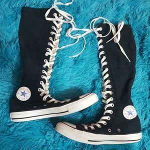 Converse All Star Black Knee High sneakers 6